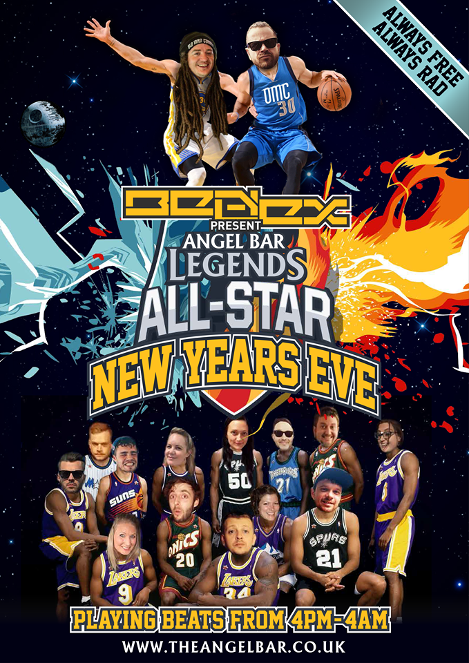 Ben & Lex presents 'Angel Bar Legends All-Star New Years Eve'
